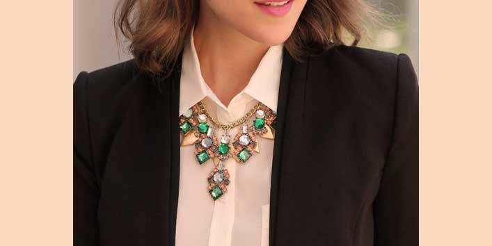 Colourful and Brighter Statement Necklace