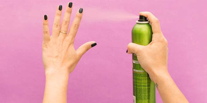 Deodrant is one Brilliant Hack to Remove Nail Paint
