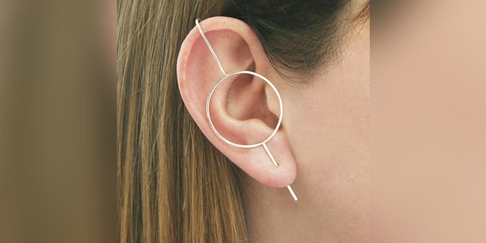 Get A Modish Look With Ear Climbers Earrings