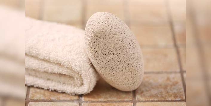 Get Rid of Chin Hair Using Pumice Stone