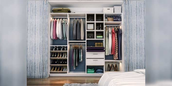 Remove dampness from the closet