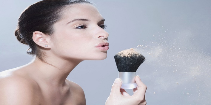 Use loose powder for setting