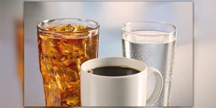 Soda and coffee