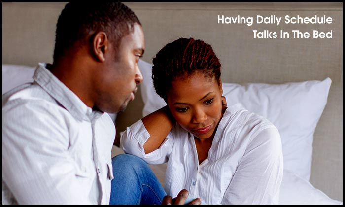 Having Daily Schedule Talks In The Bed
