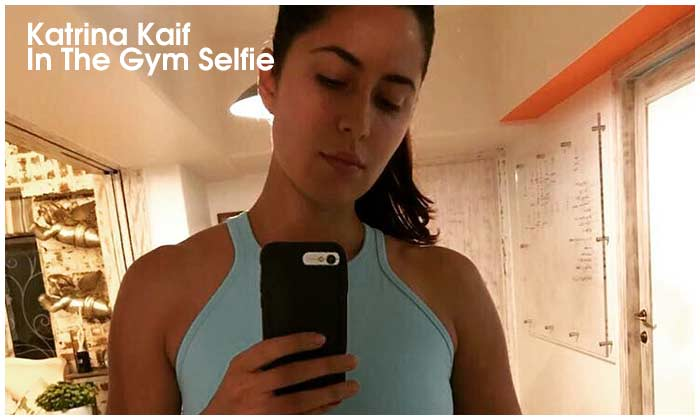 Katrina In The Gym Selfie