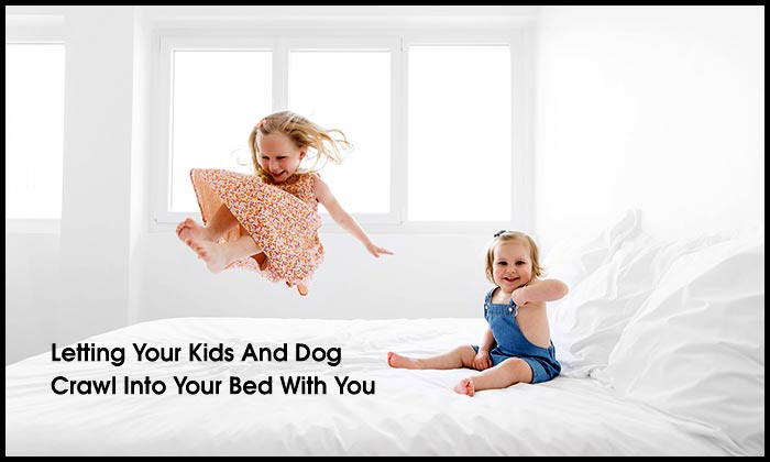 Letting Your Kids And Dog Crawl Into Your Bed With You