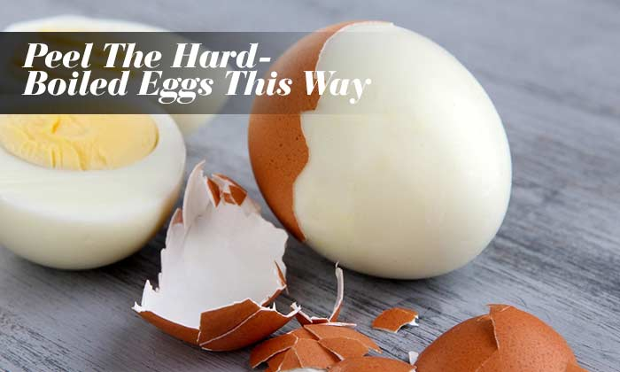 Peel The Hard-Boiled Eggs This Way