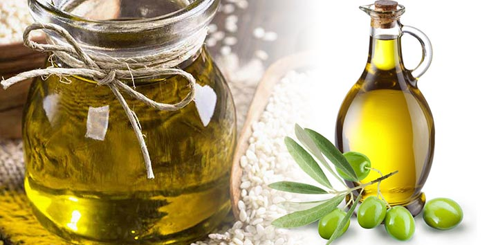 Sesame oil and Olive oil
