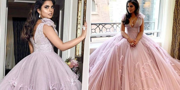 isha ambani at met gala 2019