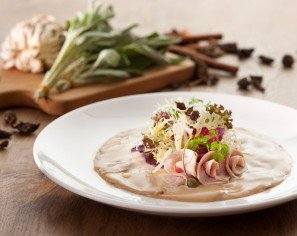 Sliced Veal, Tuna Sauce, Beetroot & Celery