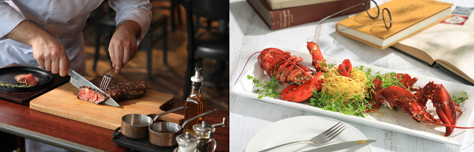 Assaggio Lobster and OP Ribs Dinner Set