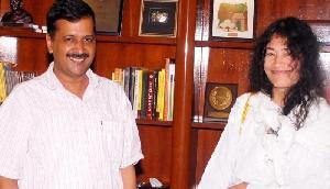 शर्मिला को है पैसे की कमी, चुनाव लड़ने के लिए केजरी ने दिया 50 हजार का चंदा