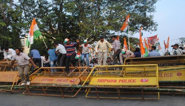 त्रिपुरा में गिरफ्तार किए गए कांग्रेस के 755 कार्यकर्ता, जानिए क्यों