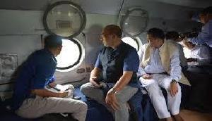 मणिपुर में बाढ़, मुख्यमंत्री ने प्रभावित क्षेत्रों का हवाई दौरा किया