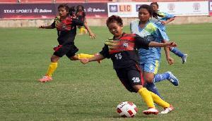 फुटबॉल मैच में चैंपियन मणिपुर को झारखंड से खानी पड़ी मात