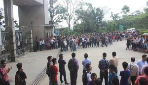 सेंट्रल यूनिवर्सिटी में वीसी की नियुक्ति को लेकर छात्रों का आंदोलन जारी