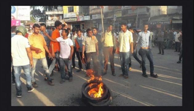 त्रिपुरा में सीपीएम के कार्यकर्ताओं ने भाजपा अध्यक्ष पर किया हमला!