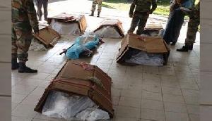 हेलिकॉप्टर क्रैश: गत्तों में शहीदों का शव रखे जाने पर विवाद, सेना ने दी सफाई