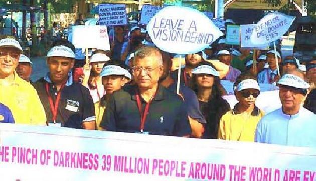कॉर्निया दान के लिए गुवाहाटी में निकाली गया ब्लाइंड वॉक