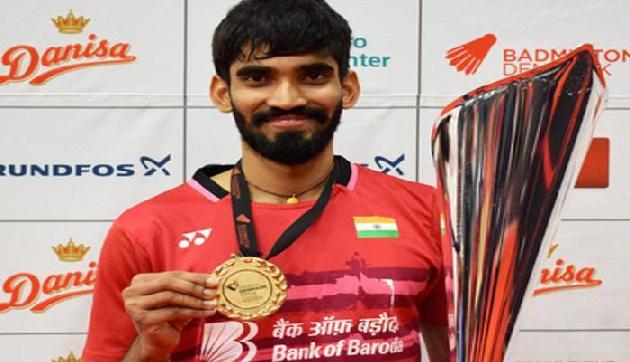 श्रीकांत को 5 लाख रुपए पुरस्कार राशि देने की घोषणा