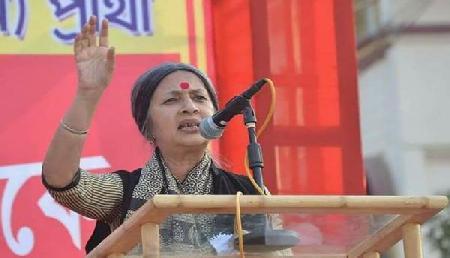 त्रिपुरा में वृंदा की रैली में जुटी भारी भीड़, साधा मोदी पर निशाना