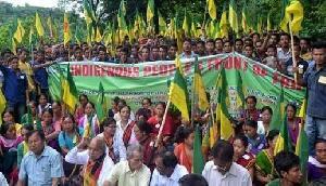 त्रिपुरा: ट्विपरालैंड पर मुश्किल में बीजेपी, IPFT के हजारों कार्यकर्ताओं ने किया प्रदर्शन