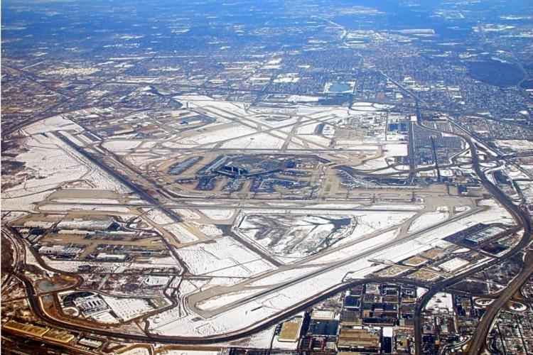 Sân bay O'Hare những năm 1970.