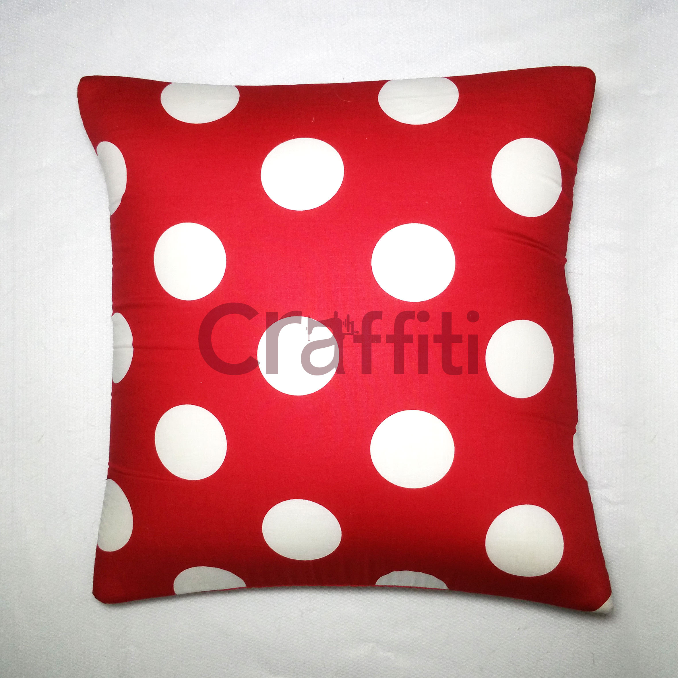 Big White Polkadot - Cushion Cover