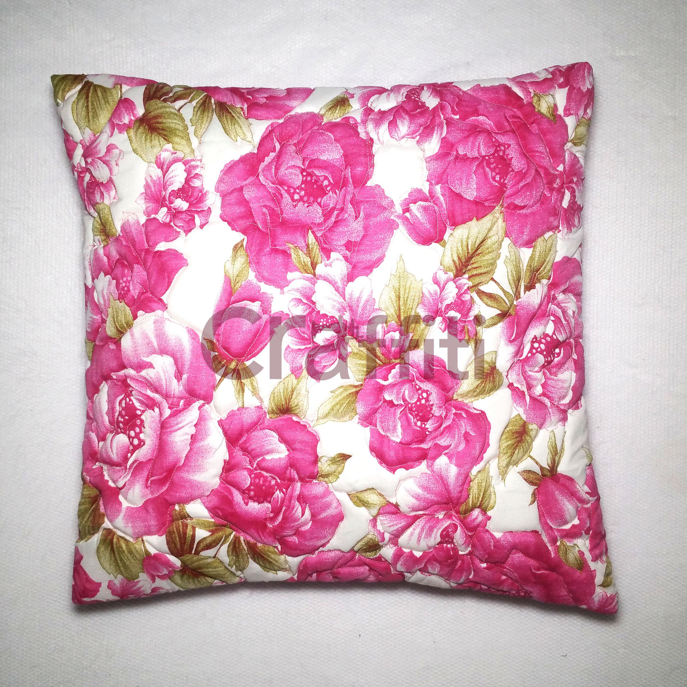 White Flower - Emboss Cushion Cover