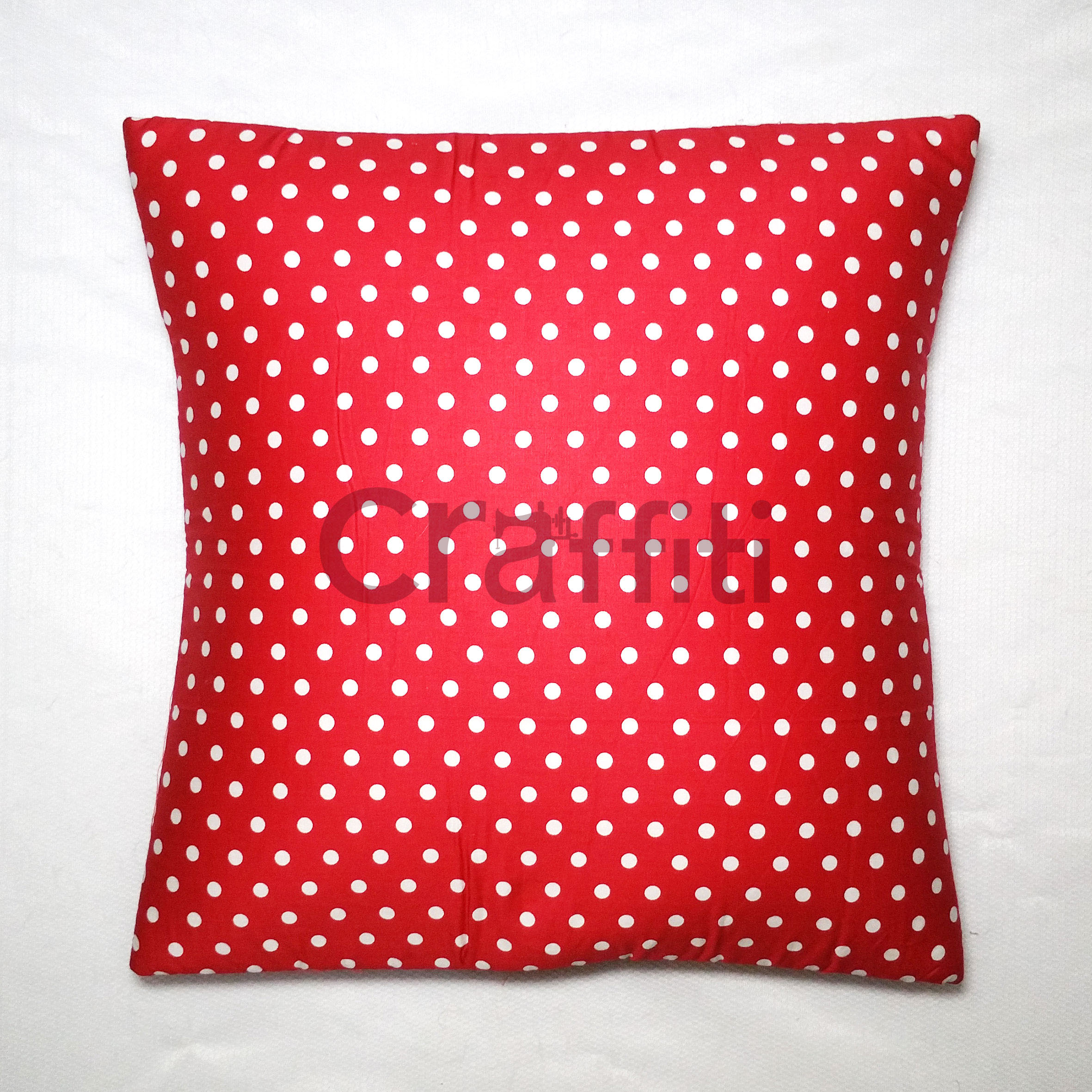 White Small Polkadot - Cushion Cover