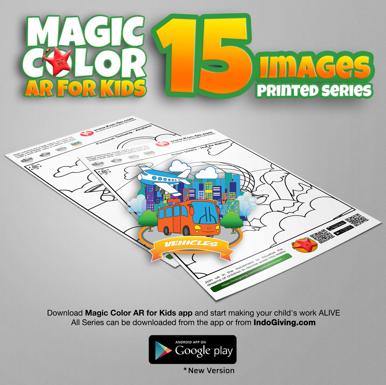 Magic Coloring AR: Vehicle - Print Series