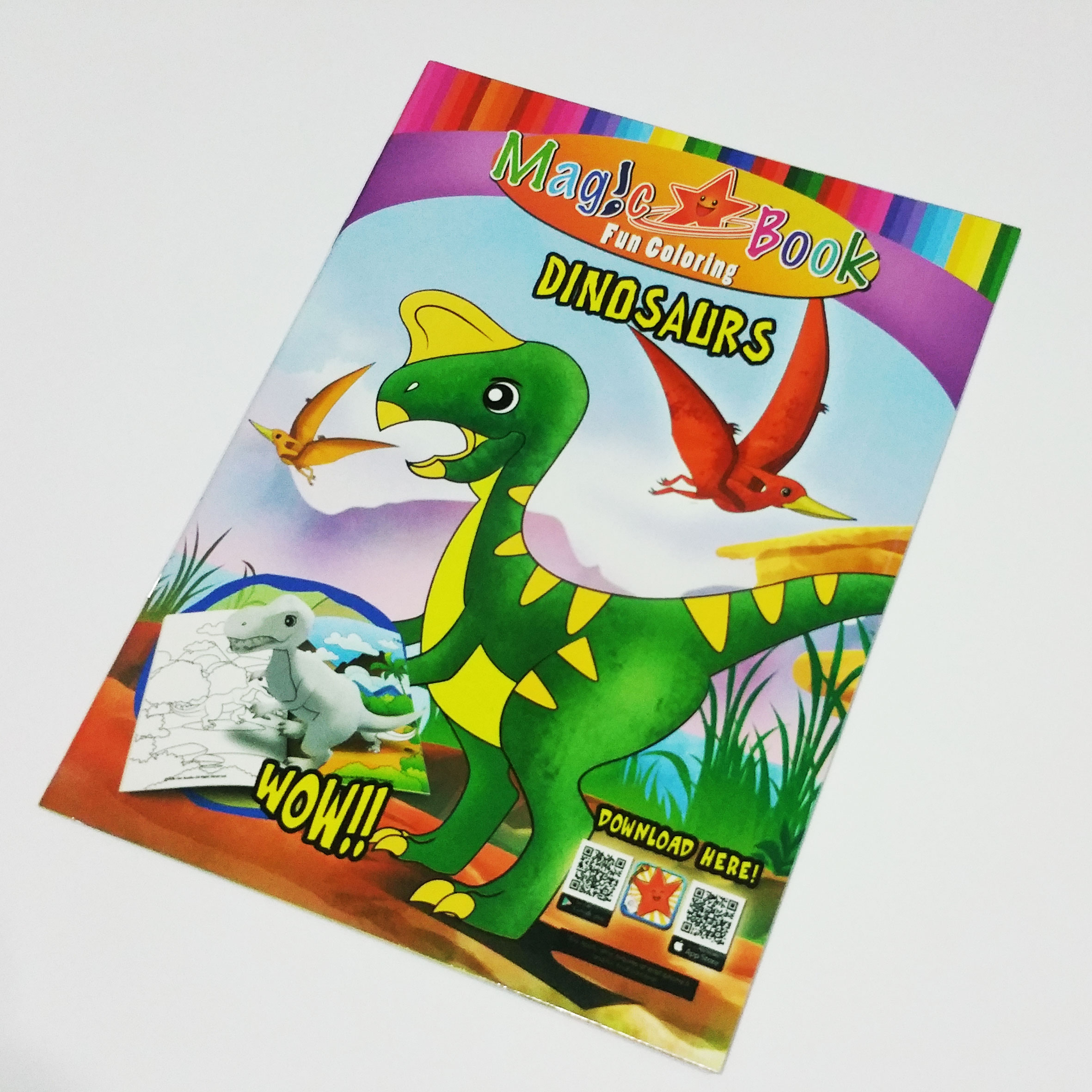 Magic Coloring Book With AR: Dino Series 1