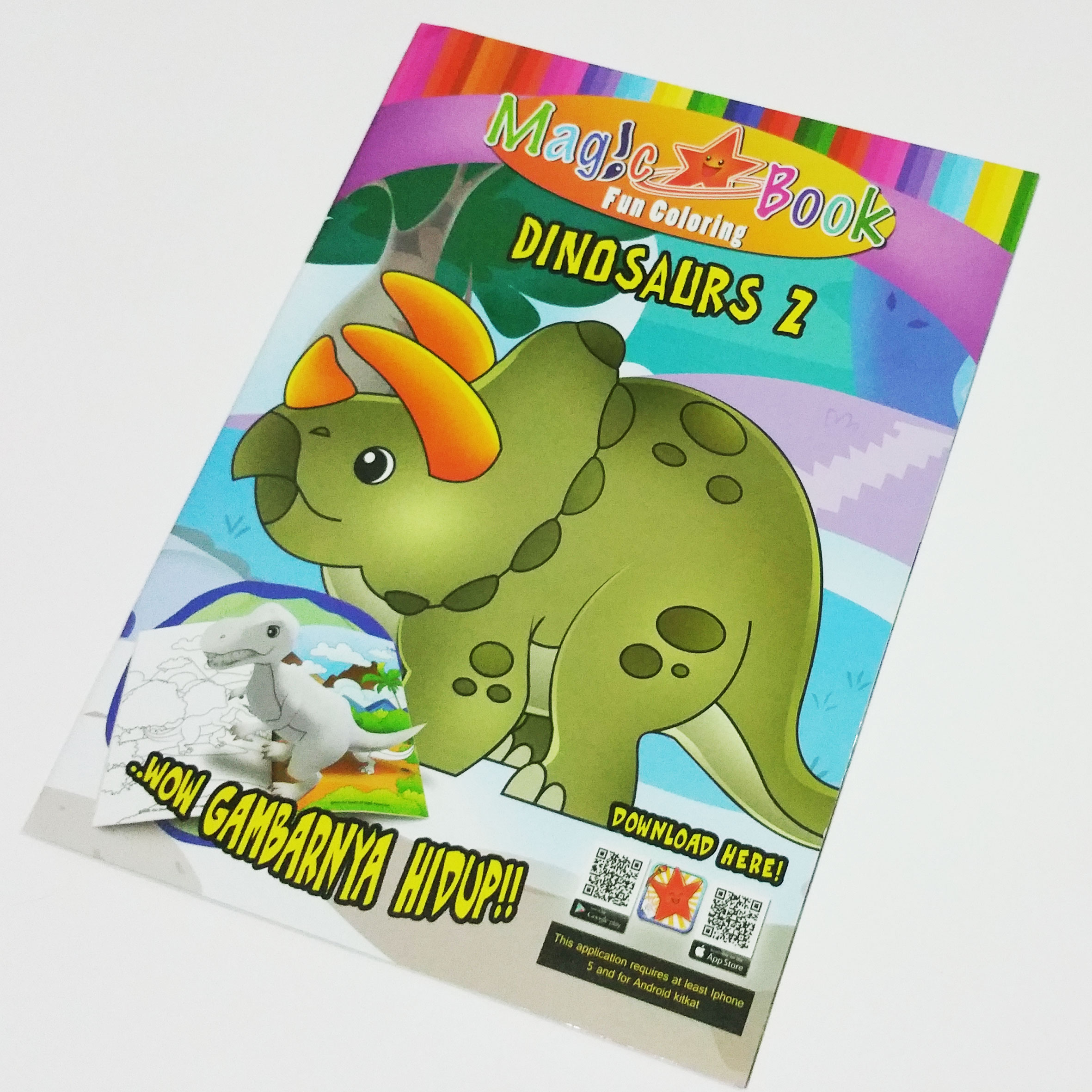 Magic Coloring Book With Ar: Dino Series 2
