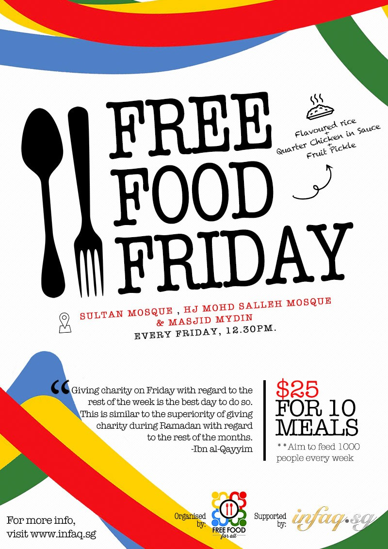 free food friday infaq infaq sg