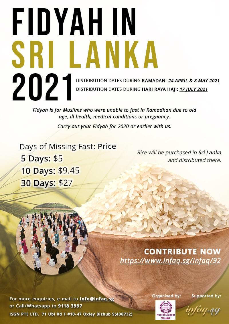 Fidyah in Sri Lanka 2021