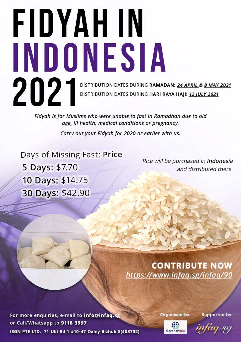 Fidyah in Indonesia 2021