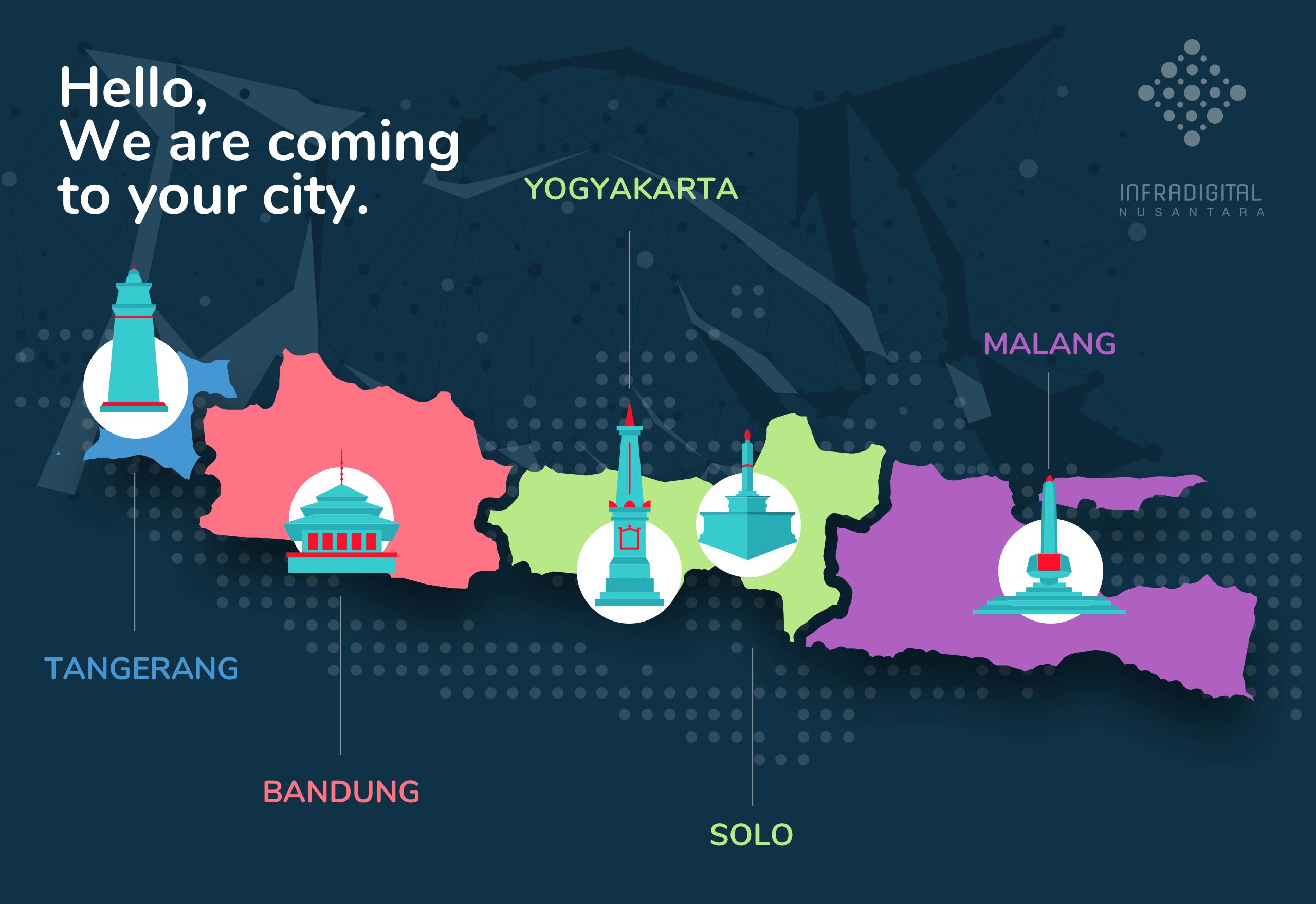 Infografis Tim IDN dan Kantor Perwakilan IDN di Pulau Jawa