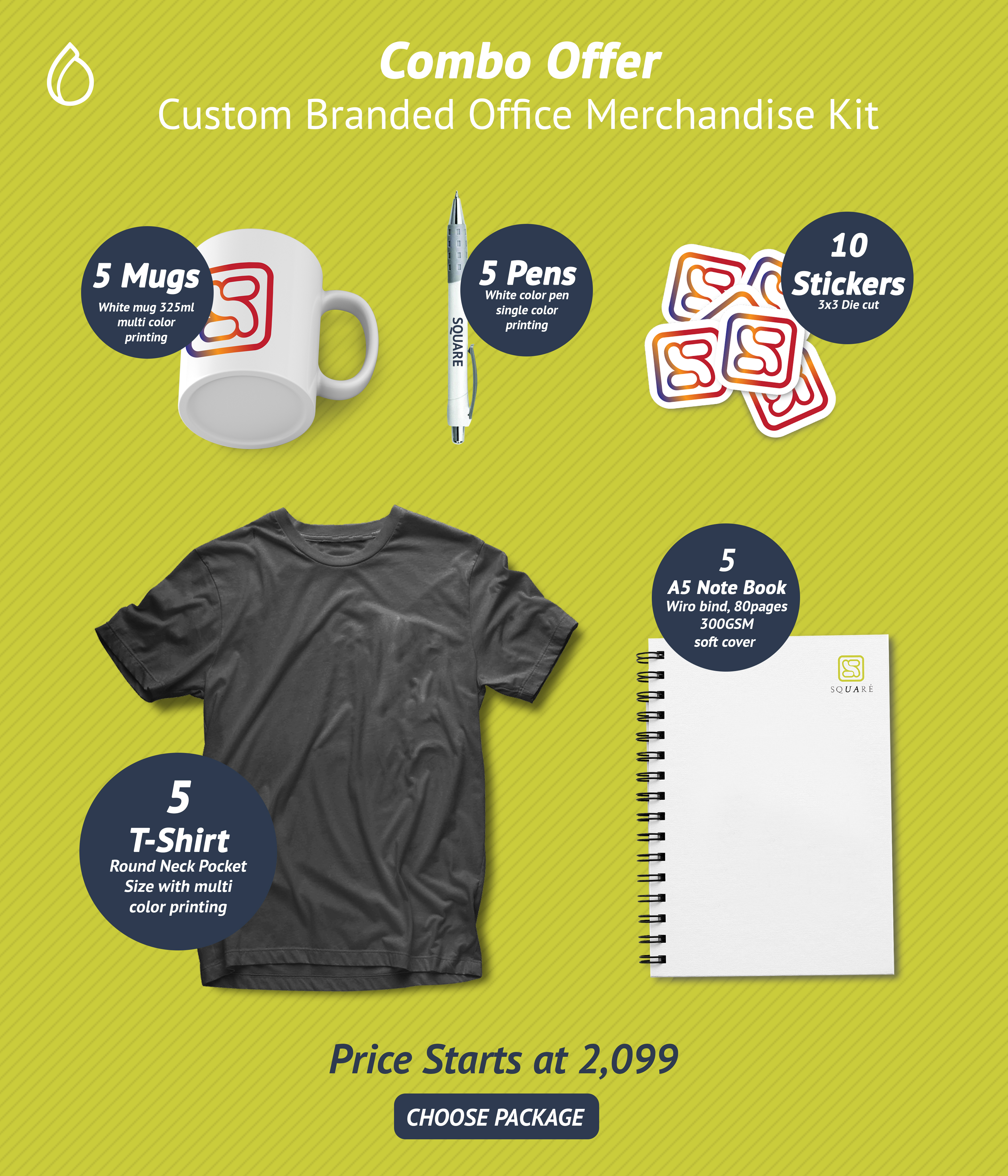 What Is Included In Your Combo Package 1 Round Neck T Shirt With Print