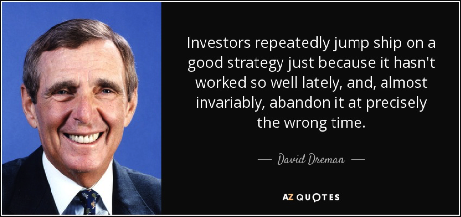 Stock Picking Strategy Series: Dreman's Contrarianism Part 1: Investment Philosophy and Strategy!