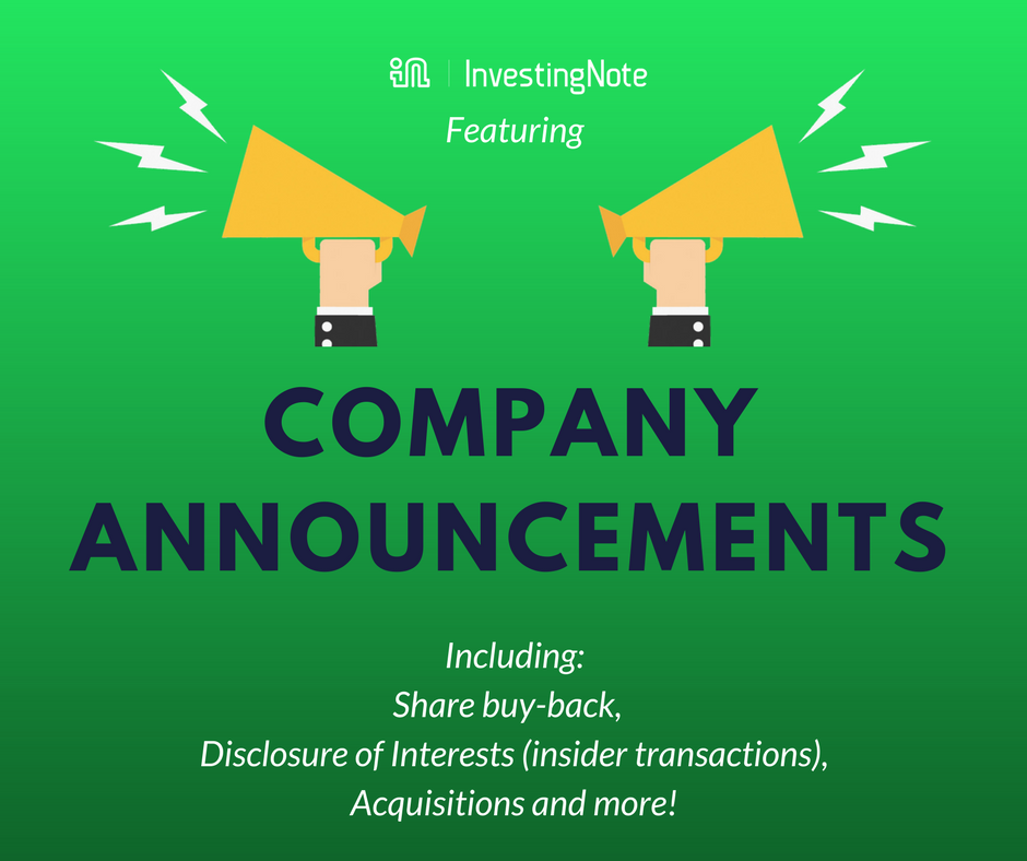 New Feature: Company Announcements are now available