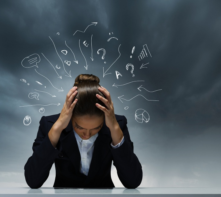 Negative thoughts stress