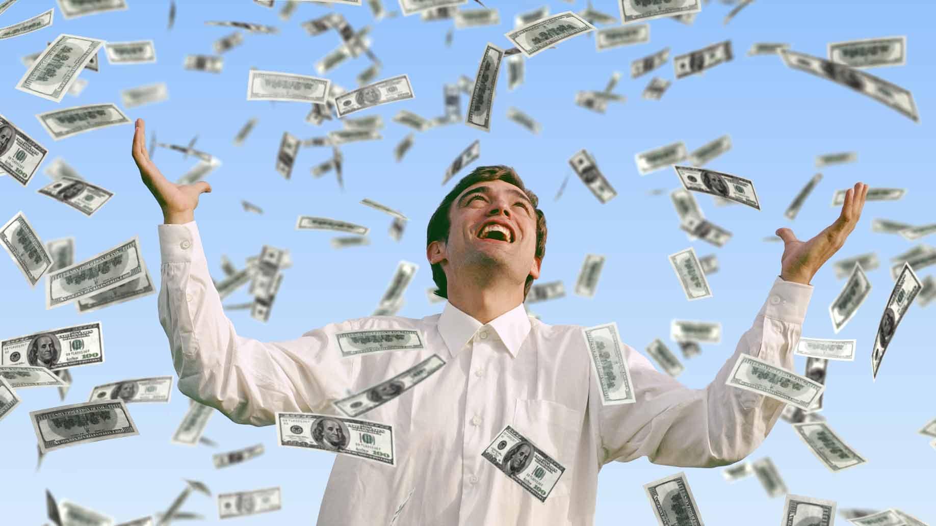 Falling dollars lotto winner