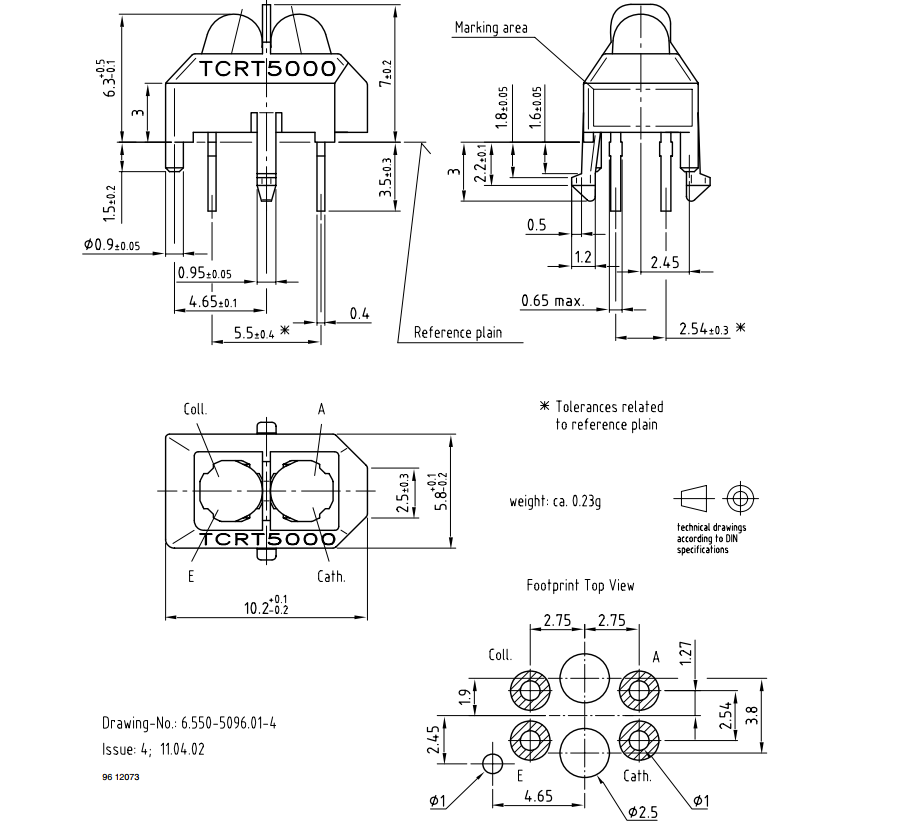 TCRT5000-package-dimensions