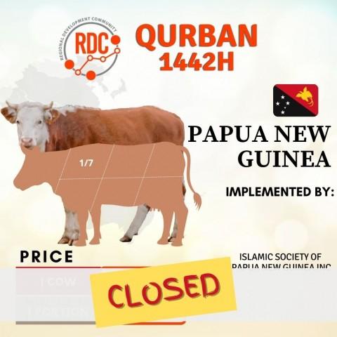 RDCB QURBAN 1442H  PAPUA NEW GUINEA - COW