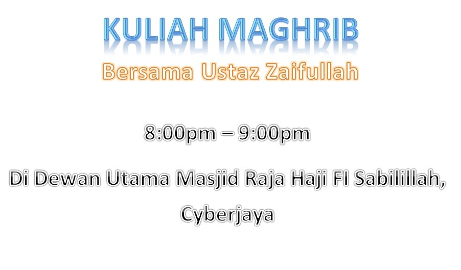 Taqwin Kuliah Ceramah & Tazkirah Jumaat