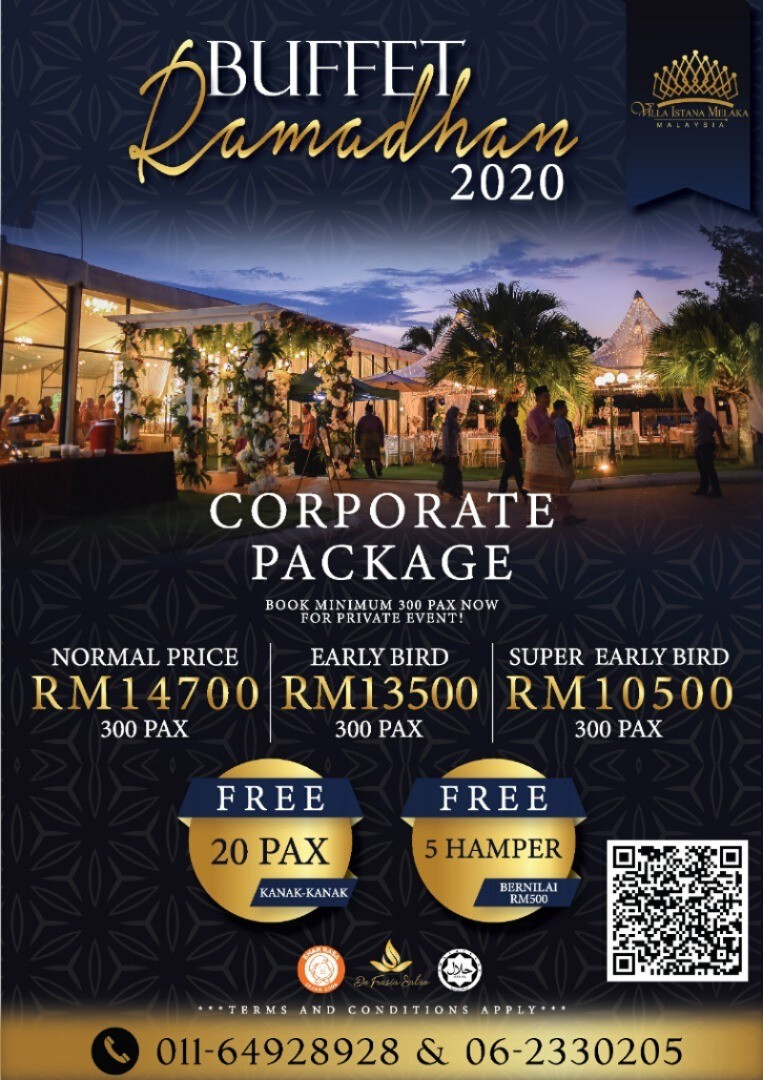 BUFFET RAMADHAN 2020 CORPORATE  PACKAGE (EARLY BIRD)