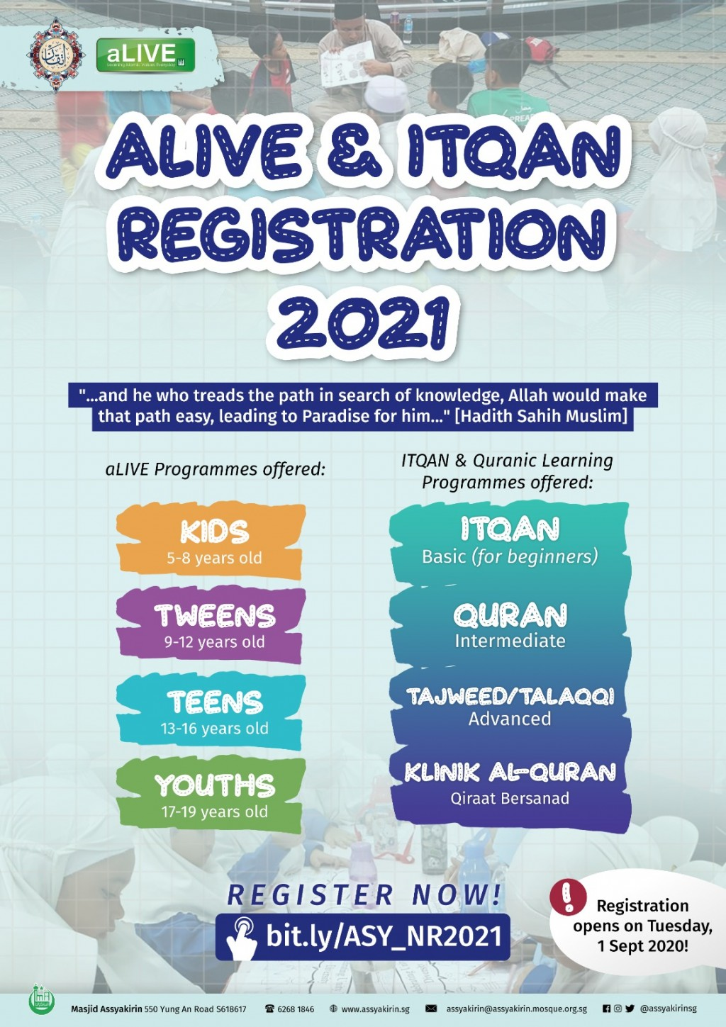 ALIVE & QLD NEW REGISTRATION 2021