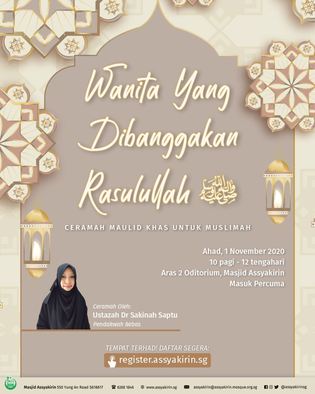 Ceramah Maulid Khas Untuk Muslimah: Wanita Yang Dibanggakan Rasulullah SAW