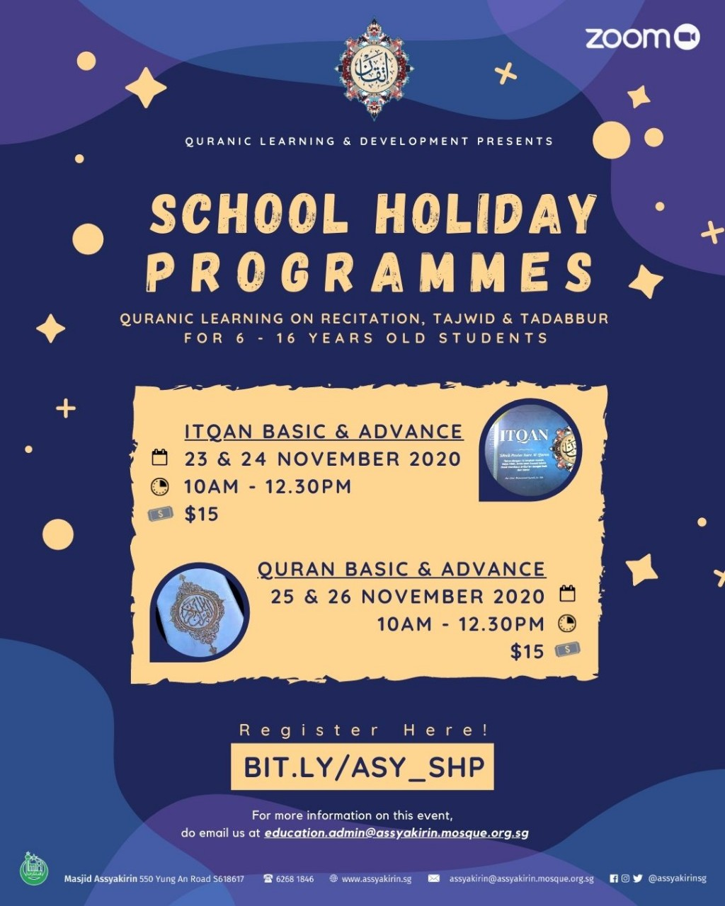 QLD SCHOOL HOLIDAY PROGRAMME