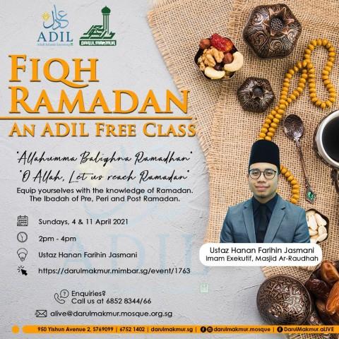 Fiqh Ramadan - An ADIL Free Class
